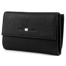 Tommy Hilfiger - Basic Leather Large Zip W/Flap /Black