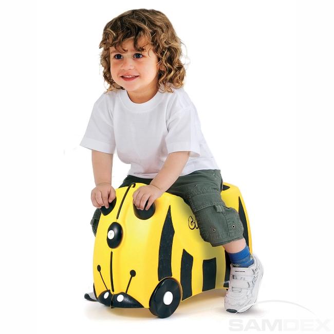 f10ff829f697b Detský kufor na kolieskach TRUNKI - Včielka - Cestovné kufre, tašky,  školské tašky a batohy pre deti.   SAMDEX.sk
