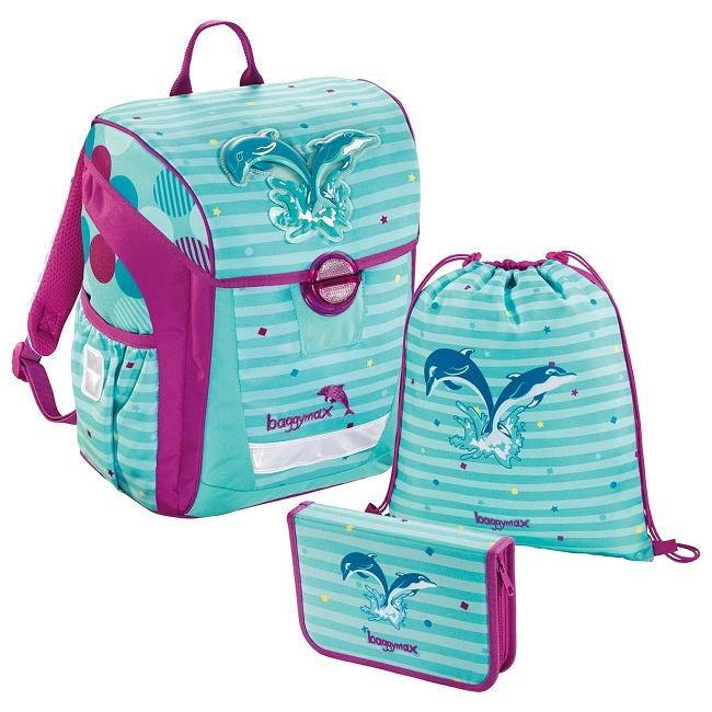 acfacf5e55 Školská taška Baggymax - Delfíny