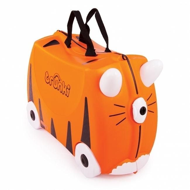 bc69e61772 Detský kufor na kolieskach TRUNKI - Tiger - Cestovné kufre