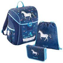 Baggymax - školská taška Trikky / Džínsový koník