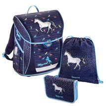 Baggymax - školská taška Fabby / Džínsový koník